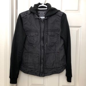 Women's American Eagle Utility Jacket Black Size M